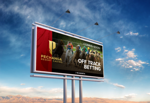 Off Track Betting teaser billboard.